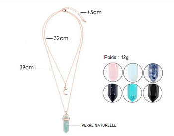 "Collier ""Moon"" en Pierre Naturelle"