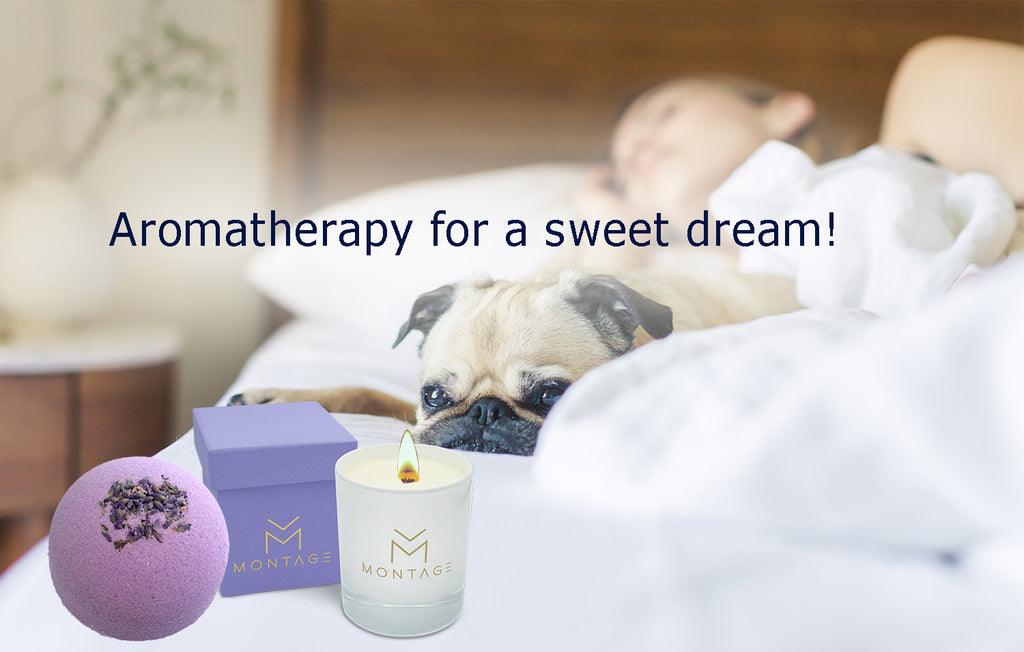 Aromatherapy bath for a sweet dream!