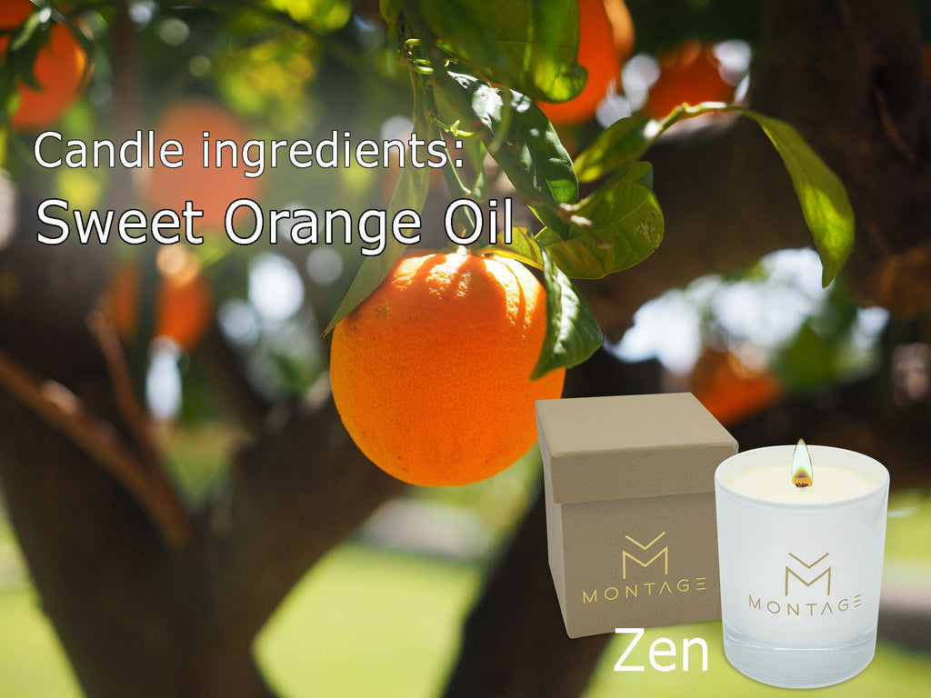 Candle ingredients: Sweet Orange Oil - Zen
