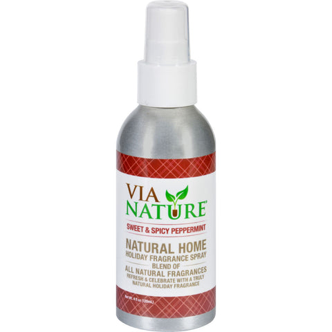 Via Nature Room Spray Holiday Sweet and Spicy Peppermint