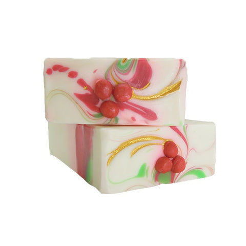 Handmade Artisan Soap | Raspberry and Vanilla Soap with essential oil