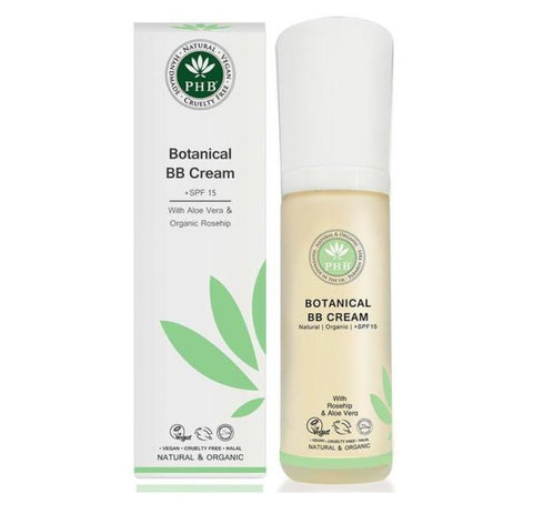 PHB Ethical Beauty | BB Cream SPF15 : Fair, sun screen spf 15, moisturizing, natural, organic, vegan makeup, good for sensitive skin