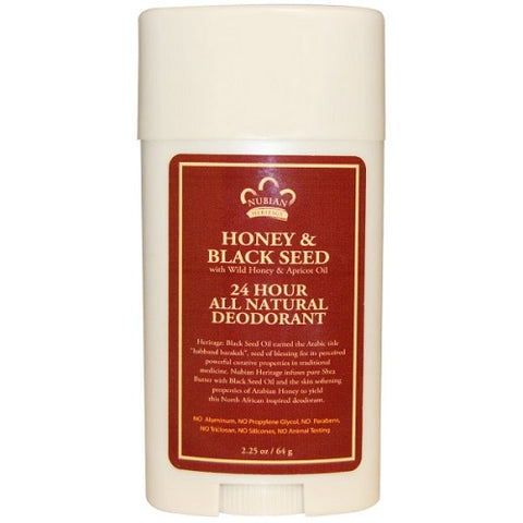 Honey and Black Seed Nubian Heritage Nubian 24 Hour All Natural Deodorant