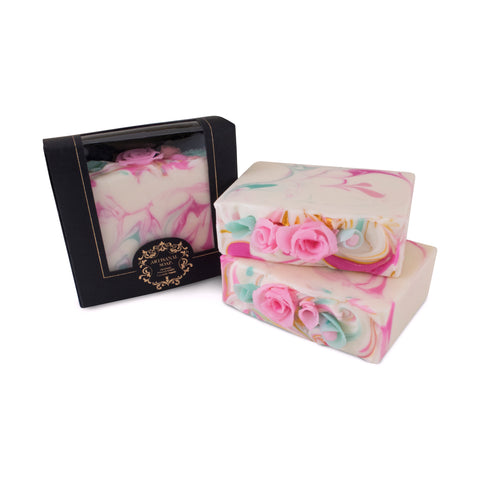 Handmade Artisan Soap | 3D Roses Soap for stress relief, with essential oil. aromatheray