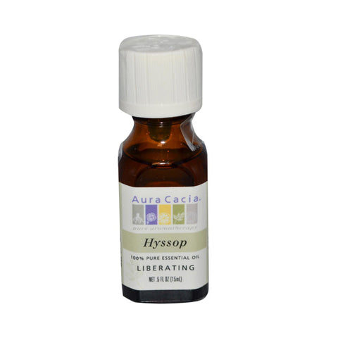Aura Cacia 100% Pure Essential Oil Hyssop Liberating