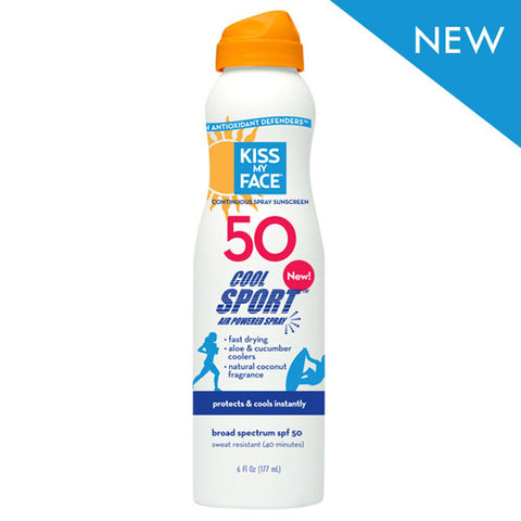 Kiss My Face Cool Sport Spray Any Angle Air Powered SPF 50