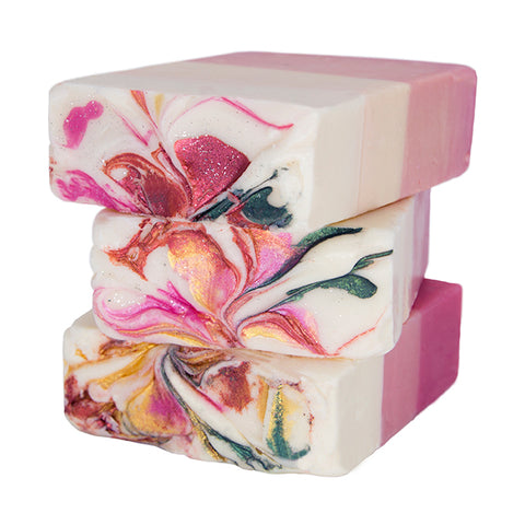 Handmade Artisan Soap | 3D Roses Soap (Set of 2)