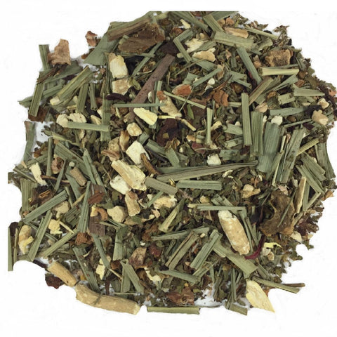 Harmony Blend Herbal Tea. An Aryuvedic inspired blend of adaptogenic herbs such as Lemongrass, Organic Holy Basil, Organic Ashwaghanda, Rhodiola, Organic Hibiscus designed to increase resistance to environmental stress. Tastes great too!