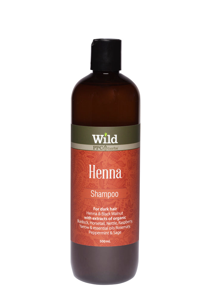 Wild Ppc Henna Hair Shampoo For Dark Hair 500ml The Organics