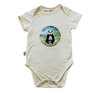 Image of BabyMoso Giant Panda Short-Sleeve Baby Onesie- Bamboo Fabric