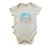 Image of BabyMoso Leatherback Sea Turtles Short-Sleeve Baby Onesie- Bamboo Fabric