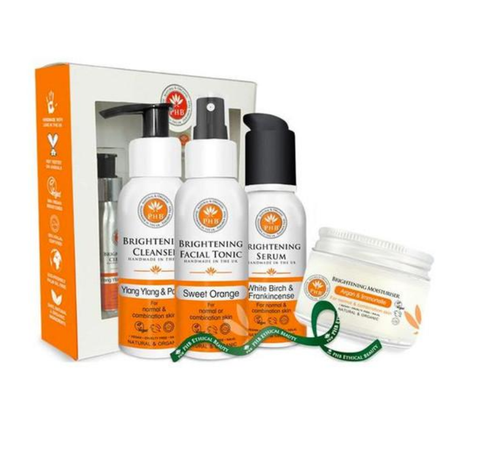 PHB Ethical Beauty | Brightening Skin Care Set, gift set, gift idea, normal and combination skin