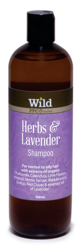 Wild PPC | Herbs & Lavender Hair Shampoo for Normal to Oily Hair- 500ml