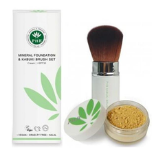 PHB Ethical Beauty | Foundation Kabuki Set (SPF30) : Cream, natural, sun screen, sun block SPF30, water resistant, mineral foundation
