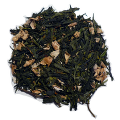 Peppermint Ginger Green tea with Luxury green tea, Natural dried ginger, Natural dried calendula and sunflower petals, Peppermint