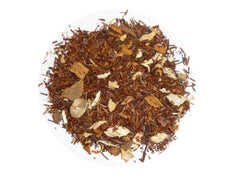 Spiced Rooibos. A synergy between cinnamon and ginger with sweet rooibos and orange flower petals. Sure to please every palate!