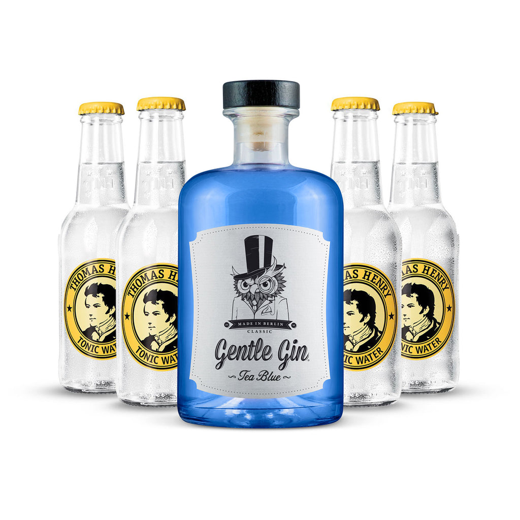 Gentle Gin Tea Blue 0,5l + 4 x Thomas Henry Classic Tonic 0,2l