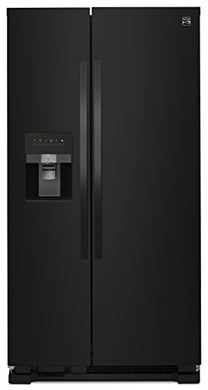 Kenmore 50049 25 Cu. Ft. Side-by-Side Refrigerator with Ice Maker with Window in Black, includes delivery and hookup (Available in select cities only)