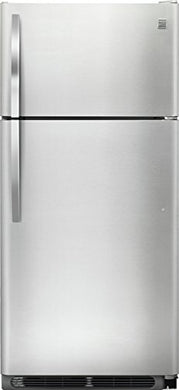 Kenmore 60505 18 cu. ft. Top Freezer Refrigerator with Glass Shelves in Stainless Steel, includes delivery and hookup (Available in select cities only)