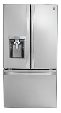 Kenmore Smart 75043 24 cu. ft. French Door Bottom-Mount Refrigerator in Stainless Steel - Works with Amazon Alexa, includes delivery and hookup (Available in select cities only)