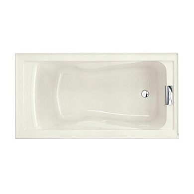 American Standard 2422V.002.222 Evolution Bathtub with Dual Molded-In Arm Rests, Undermount Option, Linen