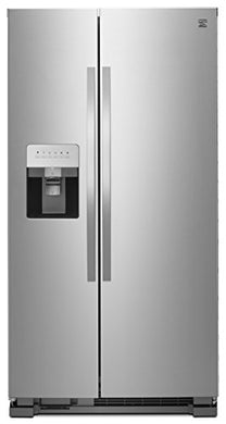 Kenmore 50043 25 Cu. Ft. Side-by-Side Refrigerator with Water and Ice Dispenser in Stainless Steel, includes delivery and hookup (Available in select cities only)