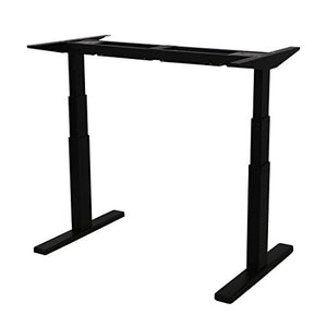 "AIMEZO 3 Tier Adjustable Legs Dual Motor Sit-Stand Desk Frame 71"" W Electric Height Adjustable Standing Desk Base"