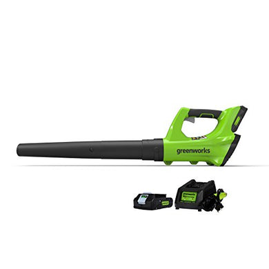 GreenWorks 2400702 24V Cordless Leaf Blower, 2Ah Battery & Charger Included