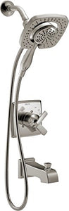 Delta T17464-SS-I Ashlyn Monitor 17 Series Tub & Shower Trim with In2ition Two-in-One Handshower Showerhead, Stainless