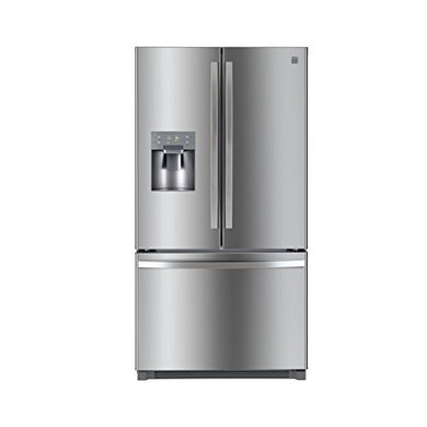 Kenmore 73045 25.6 cu.ft. French Door Refrigerator with Bottom-Freezer in Stainless Steel with Active Finish, includes delivery and hookup (Available in select cities only)