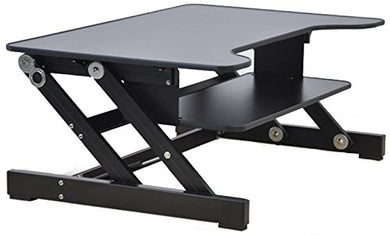 Rocelco ADR Standing Desk Monitor Riser, Height Adjustable , Dual Monitor Capable, 50lb Capacity - 32