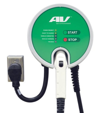 AeroVironment EV Charger: Plug-In, 25'Cable, 30A, 7.2kW, UL-Listed
