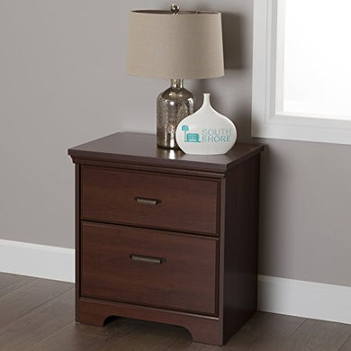 South Shore Versa 2-Drawer Nightstand, Royal Cherry