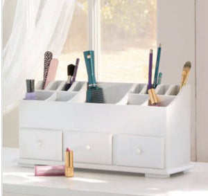 Vanity and Beauty Organizer with Drawers & Storage, White