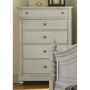 Liberty Furniture Harbor View III Bedroom 5-Drawer Chest, Dove Gray Finish