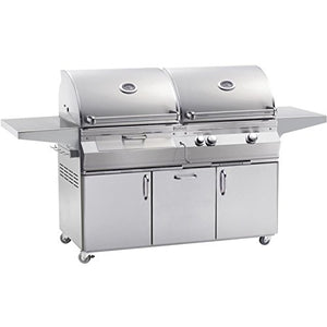 Fire Magic Aurora A830s Dual Propane Gas And Charcoal Combo Bbq Grill On Cart - A830s-5eap-61-cb