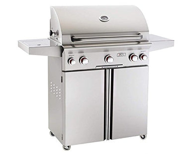 American Outdoor Grill 30NCT T-Series 30 Inch Natural Gas Grill On Cart With Side Burner And Rotisserie Kit