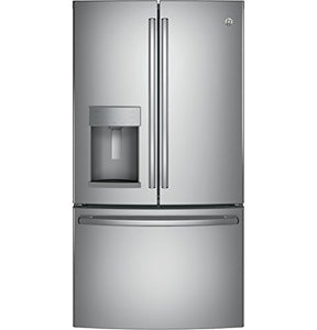 "GE GFE26GSKSS 36"" Energy Star, ADA Compliant French Door Refrigerator with 25.8 cu. ft. Capacity, Stainless Steel"