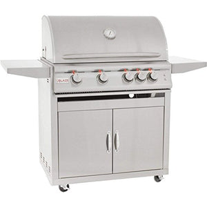Blaze 32-inch Grill with Lights (BLZ-4LTE-NG-BLZ-4-CART), Freestanding, Natural Gas