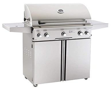 American Outdoor Grill 36NCL L-Series 36 Inch Natural Gas Grill On Cart With Side Burner And Rotisserie Kit