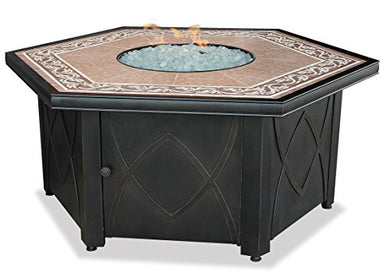 Endless Summer, GAD1380SP, LP Gas Outdoor Firebowl with Decorative Tile Mantel