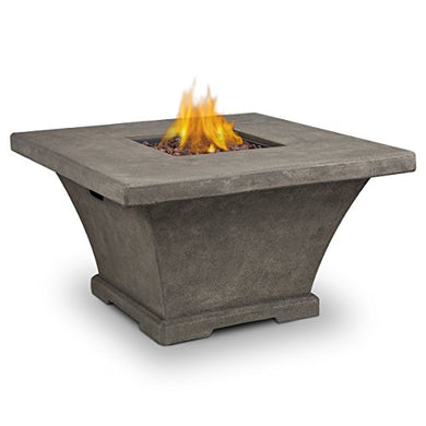 Real Flame 11702LP Monaco Square Fire Table, Large, Glacier Gray