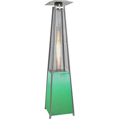 Hanover HAN110SS Square Propane Patio Heater with Stainless Steel Frame & Multicolor LED Lighted Base, 7'