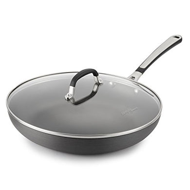 Simply Calphalon 12-Inch Nonstick Omelette Fry Pan with Lid