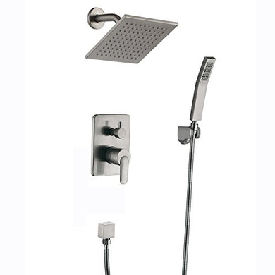 Shower Faucet Brushed Nickel All Metal Split Big Flow Rain Shower