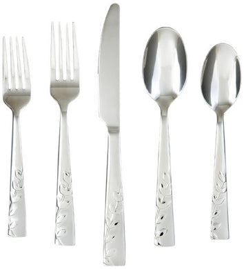 Cambridge Silversmiths Blossom Sand 20-Piece Flatware Set, Service for 4