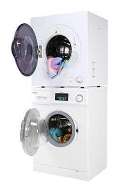 Sekido Stackable Compact Super White Washer SK 824 and Electric Venting Dryer SK 860 Set of the latest models along with 13lb load capacity very much user friendly with Delay Start Option