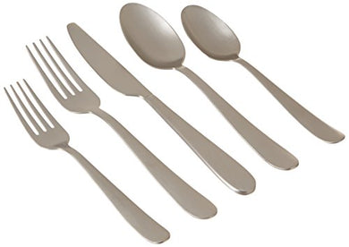 Cambridge Silversmiths 20 Piece Keegan Satin Flatware Set (Service for 4), Silver Matte