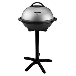 George Foreman 15-Serving Indoor/Outdoor Electric Grill, Silver, GGR50B