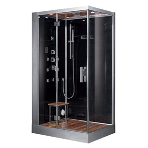 Ariel Platinum DZ959F8-BLK-L Steam Shower, Left Configuration, 47 x 35 x 89